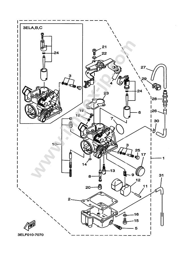 Motorcycle Parts Yamaha T50 Town Mate 1993 00l4 A
